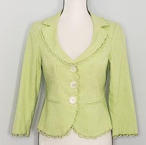 NANETTE LEPORE gingham checkered blazer jacket